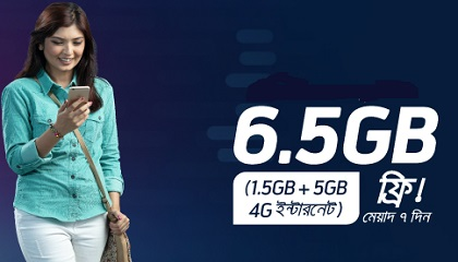 Photo of Grameenphone 6.5GB Free Internet Offer
