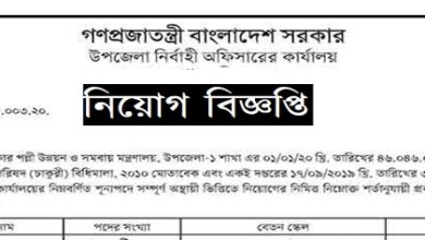 Photo of Office of the Upazila Nirbahi Officer Job Circular