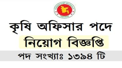 Photo of Agricultural Officer Job Circular