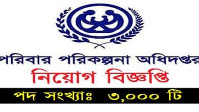 Photo of Job Circular Directorate General of Health Services