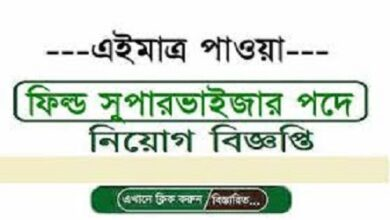 Photo of Field Supervise jobs circular