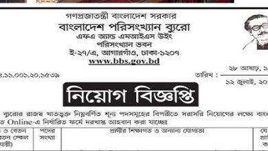 Photo of Bangladesh Bureau of Statistics Job Circular