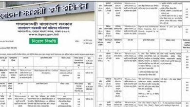 Photo of Bangladesh Public Service Commission Job Circular