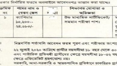 Photo of Cashier jobs circular