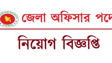 Photo of District Officer Job Circular