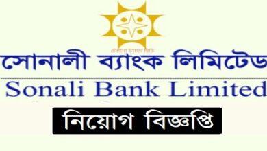 Photo of Job Circular Sonali Bank Ltd