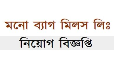 Photo of MONO BAG MILLS LTD Job Circular