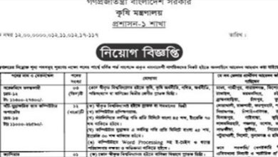 Photo of Ministry of Agricultural Job Circular 2020