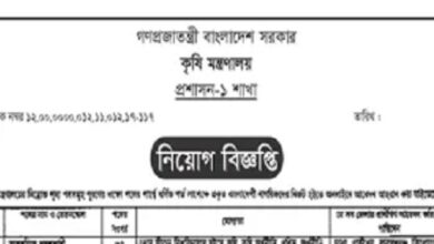 Photo of Ministry of Agricultural published a Job Circular