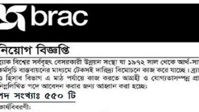 Photo of BRAC NGO JobsCircular