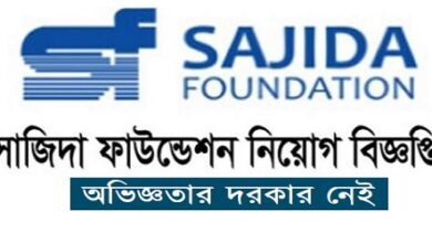 Photo of SAJIDA FOUNDATION Job Circular 2020