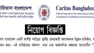 Photo of Caritas Bangladesh Job Circular