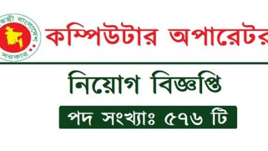 Photo of Computer operator Job Circular 2020