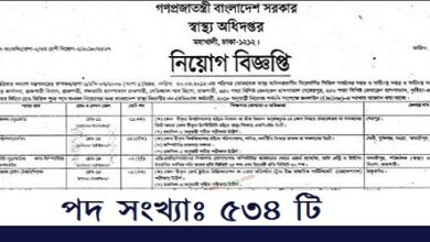 Photo of Directorate General Of Health Services (DGHS) published a Job Circular.
