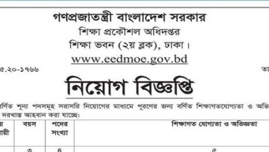 Photo of Department of Education Engineering Job Circular