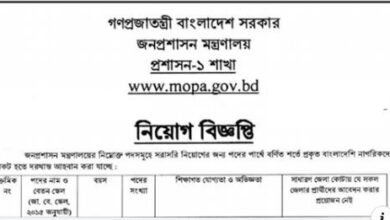 Photo of Ministry Of Public Administration Job Circular