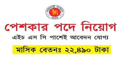 Photo of Certificate Peshker Job Circular.