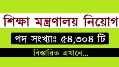 Photo of Ministry of Education published a Job Circular.