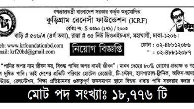 Photo of Kurigram Renesha Foundation Job Circular