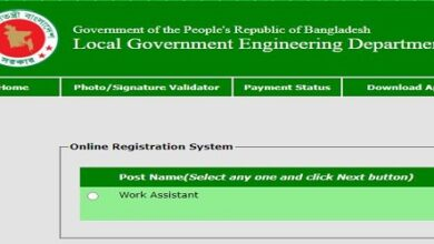 Photo of Local Government Engineering Department (LGED) Job Circular 2021