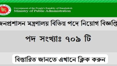 Photo of Ministry of Public Administration Job Circular 2021
