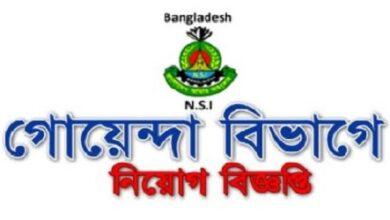 Photo of National Security Intelligence (NSI) Job Circular