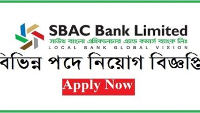 Photo of South Bangla Agricultural and Commerce (SBAC) Bank Limited Job Circular