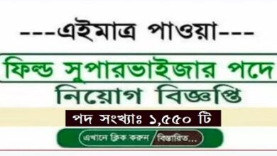 Photo of Field Supervisor Jobs Circular