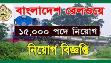 Photo of Bangladesh Railway Job Circular notice