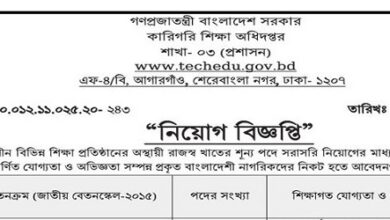 Photo of Directorate of Technical Education published a Job Circular