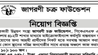 Photo of Jagorani Chakra Foundation Job Circular