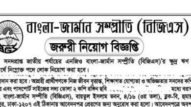 Photo of Bangla-German Sampreeti (BGS) Job Circular