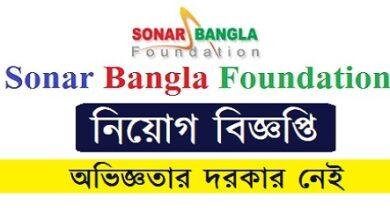 Photo of Sonar Bangla Foundation-Bangladesh Job Circular