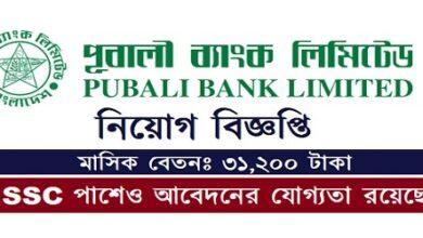 Photo of Job Circular Pubali Bank Ltd